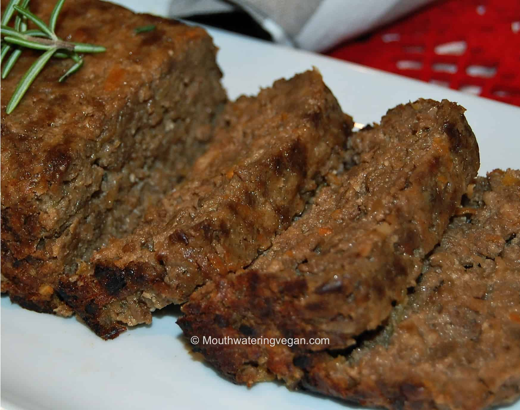 Diner-Style 'Meat' Loaf - Mouthwatering Vegan Recipes™