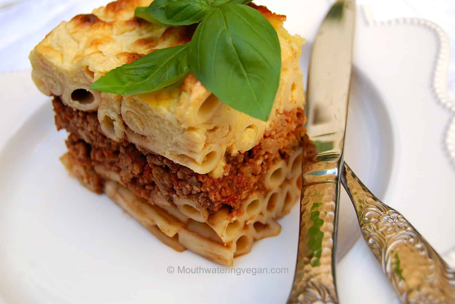 Pastitsio Perfetto - Mouthwatering Vegan Recipes™