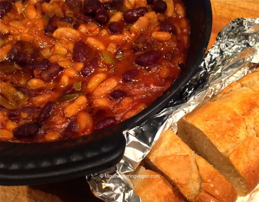Homemade Smoky Mapled Baked Beans » Mouthwatering Vegan Recipes™