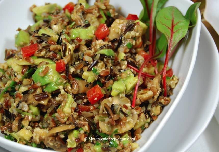 Wild Rice Salad - Mouthwatering Vegan Recipes™